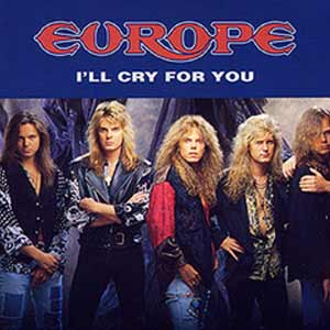 Europe - I'll Cry For You - single cover