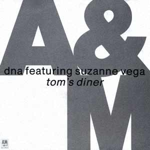 DNA feat. Suzanne Vega - Tom's Diner - single cover