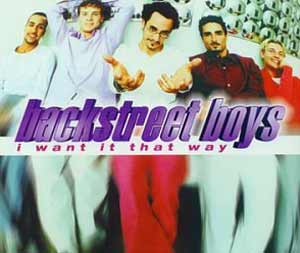 backstreet boys i want it that way single cover