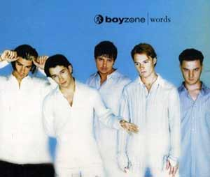 Boyzone - Words - single cover