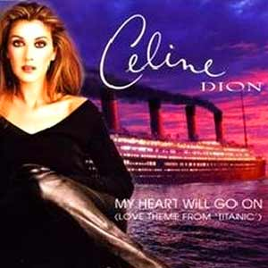 Céline Dion - My Heart Will Go On - single cover