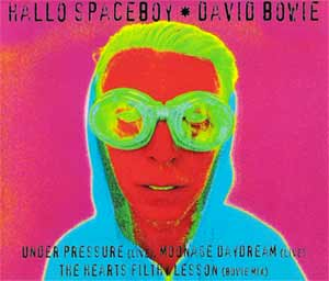David Bowie feat. Pet Shop Boys - Hallo Spaceboy - single cover