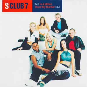 S Club 7 - Two In A Million - single cover