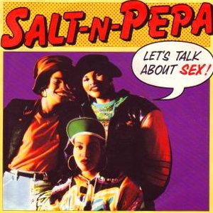 Salt-N-Pepa - Let's Talk About Sex - single cover