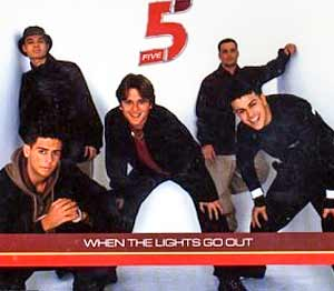 Five - When the Lights Go Out - single cover