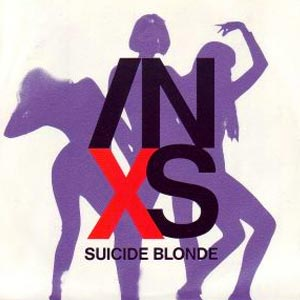 INXS - Suicide Blonde - single cover