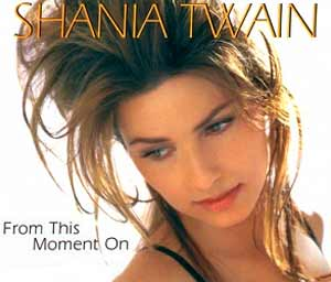 Shania Twain - From This Moment On - single cover