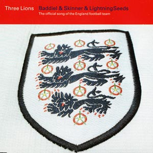 Baddiel, Skinner & The Lightning Seeds - Three Lions (Football's Coming Home) - single cover