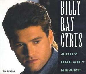 Billy Ray Cyrus - Achy Breaky Heart - single cover