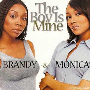 Brandy & Monica - The Boy Is Mine - single cover
