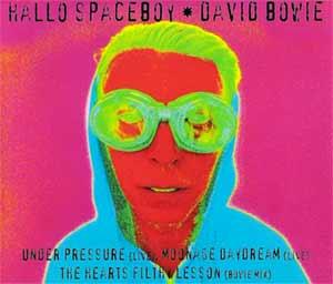 David Bowie feat. Pet Shop Boys - Hallo Spaceboy - single cover
