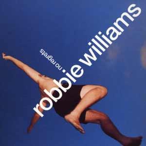 Robbie Williams - No Regrets - single cover