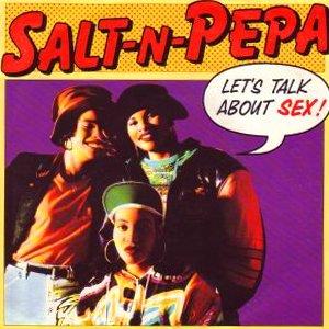 Salt-N-Pepa - Let's Talk About Sex - single cover